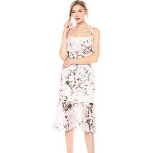 Rachel Roy Tiered Floral Lace Midi Dress 8